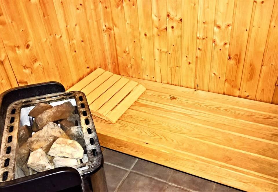 coals in sauna