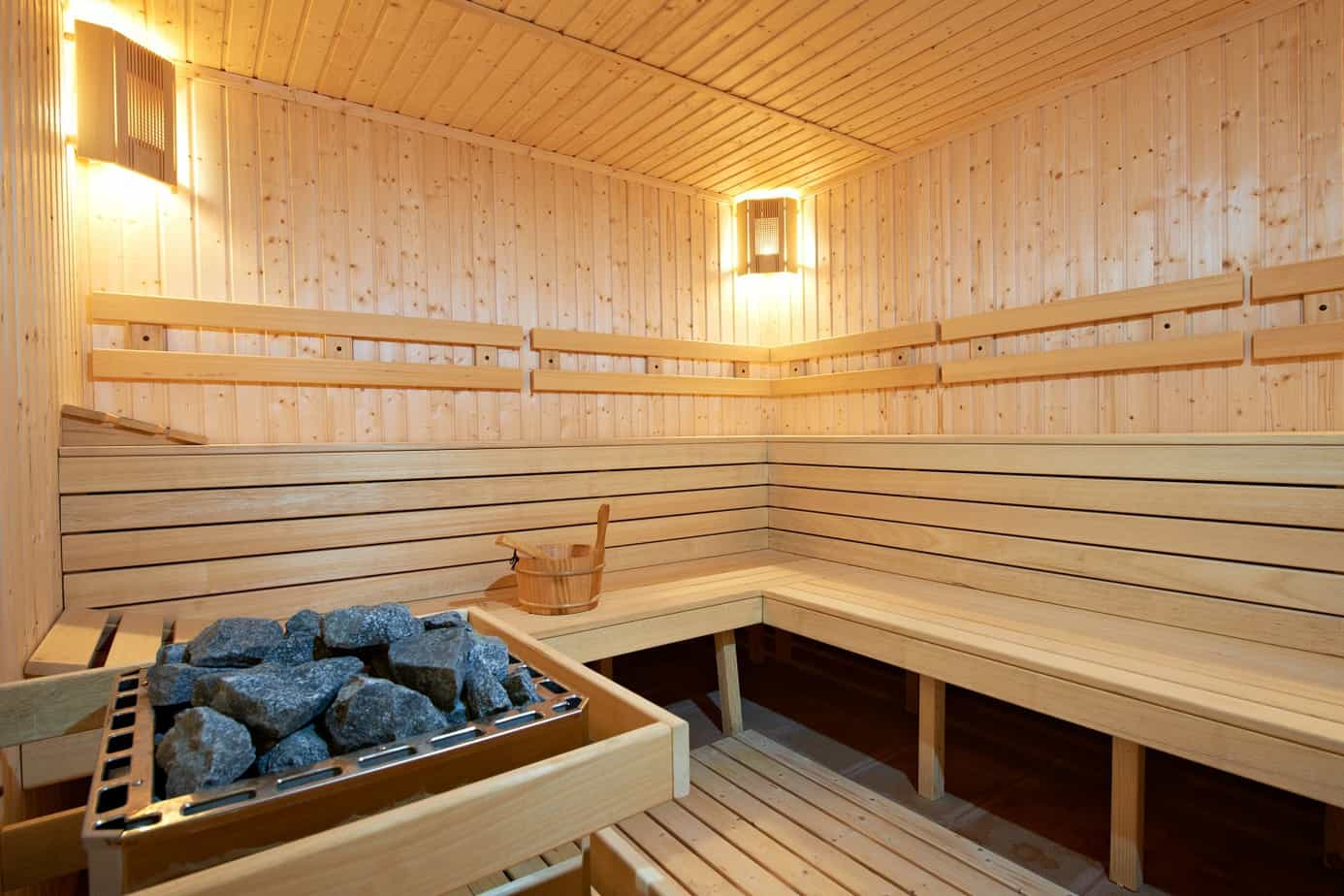 New wooden Finland Sauna