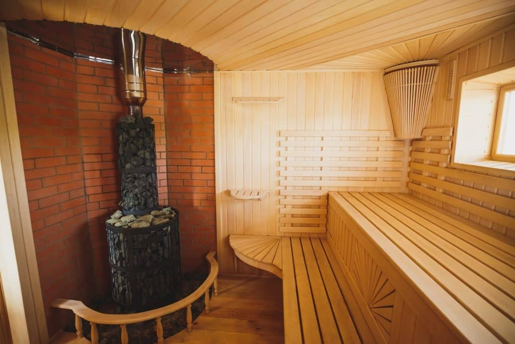 Light, spacious sauna